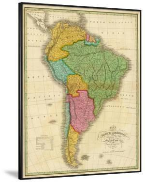 Map of South America, c.1826 by Anthony Finley