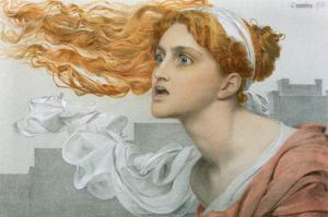 Cassandra (W/C on Paper) by Anthony Frederick Augustus Sandys