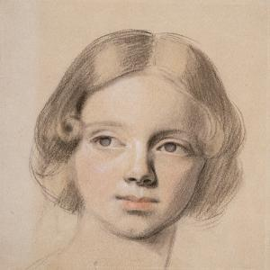 Head of Emma Sandys by Anthony Frederick Augustus Sandys