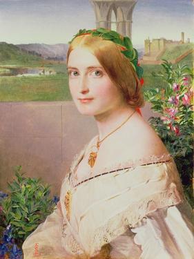 Portrait of Adelaide Mary, Mrs Philip Bedingfeld, 1859 by Anthony Frederick Augustus Sandys