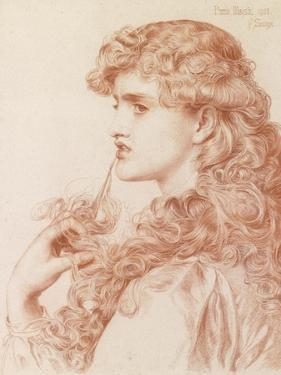 Proud Maisie, 1903 (Pencil and Red Chalk on Paper) by Anthony Frederick Augustus Sandys