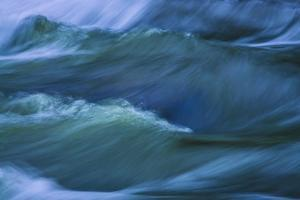 Blue Choppy Waves In Slow Motion by Anthony Paladino