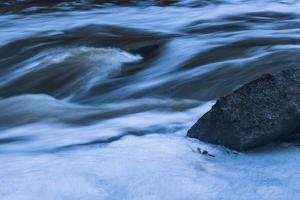 Rapids With Boulder by Anthony Paladino
