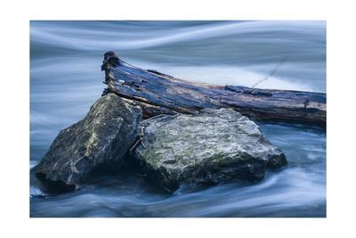 Two Rocks And Long Swirling Water