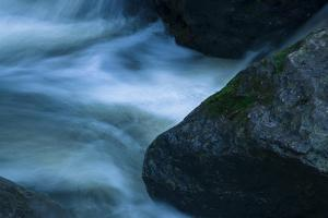 Water Interacting With Three Rocks by Anthony Paladino