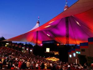 Sf Symphony Performing at Shoreline Amphitheater, Mountain View by Anthony Pidgeon
