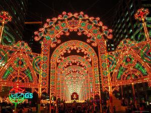 Cheonggyecheon Stream and Christmas Lighting, Seoul, South Korea by Anthony Plummer