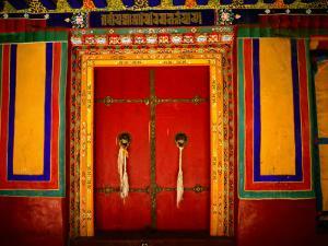 Decorated Doorways, Norbulingka (Dalai Lama's Summer Palace), Lhasa, China by Anthony Plummer