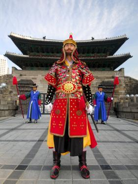 Guards of Gate at Namdaemun Gate, Seoul, South Korea by Anthony Plummer