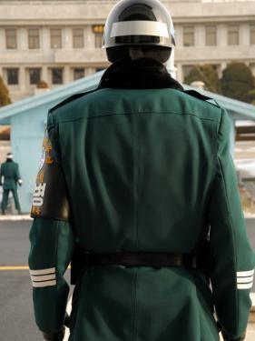 South Korean Rok Guard, Dmz, Demilitarized Zone, Seoul, South Korea by Anthony Plummer