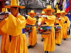 The Changing of Guards Ceremony, Deoksegung Palace, Seoul, South Korea by Anthony Plummer