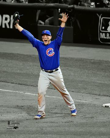 Anthony Rizzo celebrates the final out of Game 7 of the 2016 World Series Spotlight