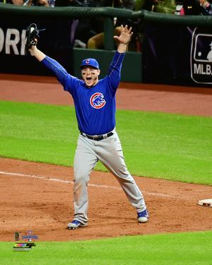 Anthony Rizzo celebrates the final out of Game 7 of the 2016 World Series