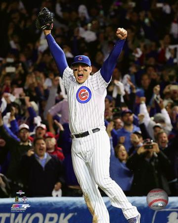 Anthony Rizzo celebrates winning Game 4 of the 2015 National League Division Series
