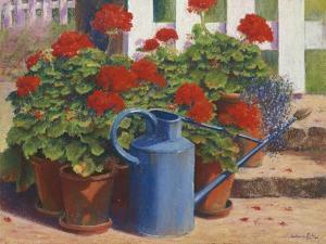 Blue Watering Can by Anthony Rule