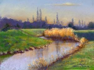 Winter Evening on the Clyst, 2003 by Anthony Rule