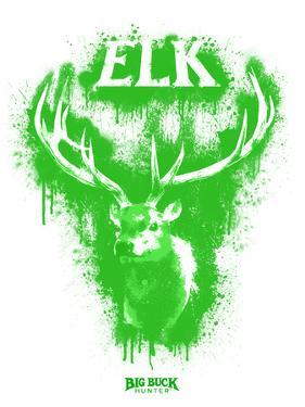 Elk Spray Paint Green by Anthony Salinas