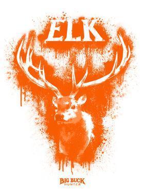 Elk Spray Paint Orange by Anthony Salinas