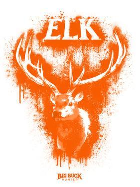 Elk Spray Paint Orange by Anthony Salinas