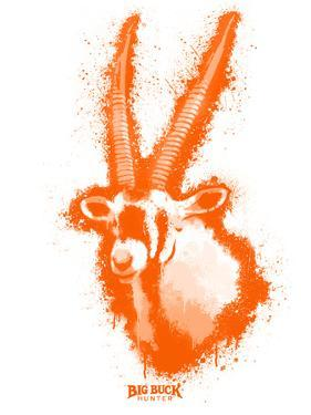 Gemsbok Spray Paint Orange by Anthony Salinas