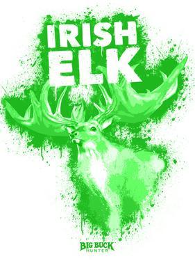 Irish Elk Spray Paint Green by Anthony Salinas