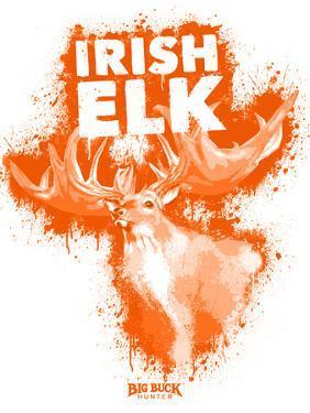 Irish Elk Spray Paint Orange by Anthony Salinas