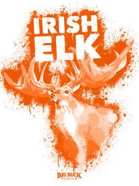 Irish Elk Spray Paint Orange by Anthony Salinas