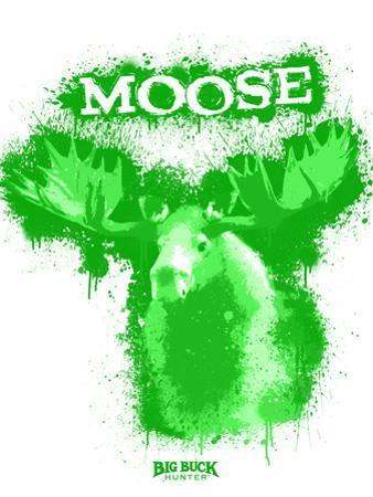 Moose Spray Paint Green by Anthony Salinas