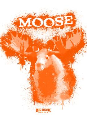 Moose Spray Paint Orange by Anthony Salinas