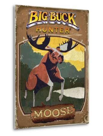 Vintage Moose Poster by Anthony Salinas