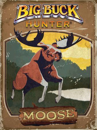 Vintage Moose Poster