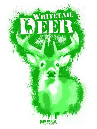 Whitetail Deer Spray Paint Green by Anthony Salinas
