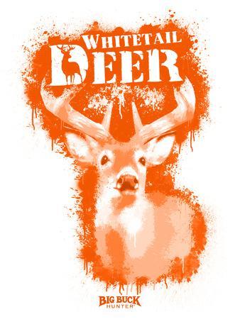 Whitetail Deer Spray Paint Orange