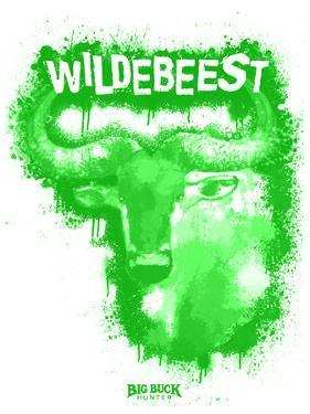 Wildebeest Spray Paint Green by Anthony Salinas