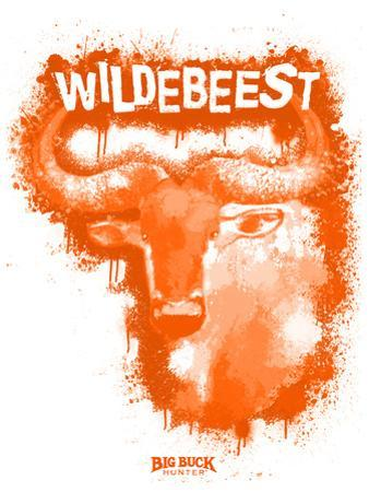 Wildebeest Spray Paint Orange by Anthony Salinas