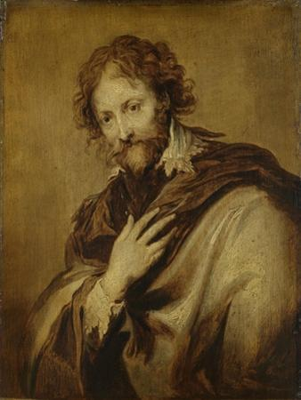 Portrait of a Man, Identified as Peter Paul Rubens, Painter and Diplomat by Anthony Van Dyck