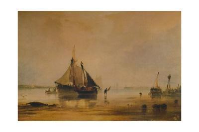 'Vessels on Shore near Southampton', c1831, (1935)