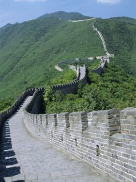 A Restored Section of the Great Wall, Mutianyu, Northeast of Beijing, China by Anthony Waltham