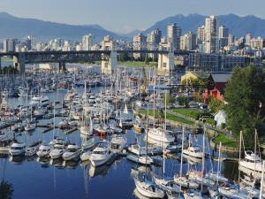 City Centre Seen Across Marina in Granville Basin, Vancouver, British Columbia, Canada by Anthony Waltham