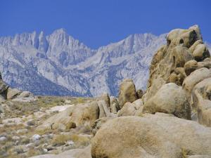 Distant Granite Peaks of Mount Whitney (4416M), Sierra Nevada, California, USA by Anthony Waltham