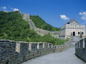 Great Wall, Restored Section with Watchtowers, Mutianyu, Near Beijing, China by Anthony Waltham