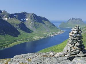 Gryllefjorden on West Coast, Senja, Nordland, Norway, Scandinavia, Europe by Anthony Waltham