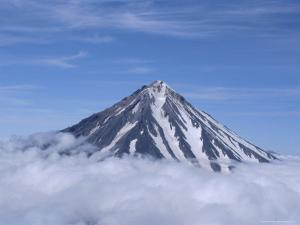 Koryaksky Volcano, 3456M High, Conical Andesite Volcano, Kamchatka, East Siberia, Russia by Anthony Waltham