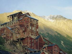 Old Copper Mine Buildings, Preserved National Historic Site, Kennecott, Alaska, USA by Anthony Waltham