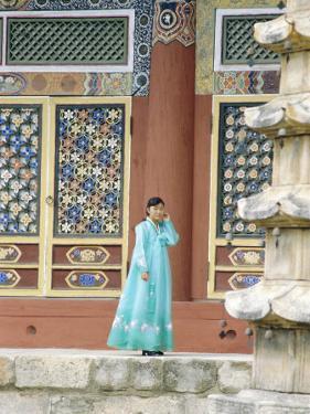 Pohyonsa Buddhist Temple, Myohyangsan, North Korea, Asia by Anthony Waltham