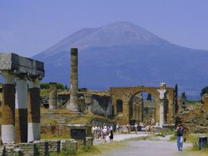 Pompeii, Mt. Vesuvius Behind, Campania, Italy, Europe by Anthony Waltham