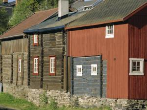 Preserved Miners' Houses, World Heritage Site of Roros, Trondelag, Norway, Scandinavia, Europe by Anthony Waltham