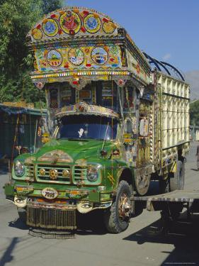 Typical Decorated Truck, Karakoram (Karakorum) Highway, Gilgit, Pakistan by Anthony Waltham