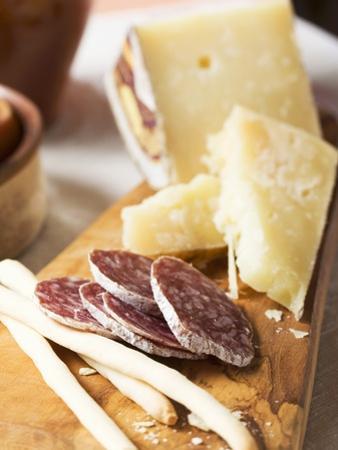Antipasto Rustico (Grissini, Salami, Pecorino and Parmesan)