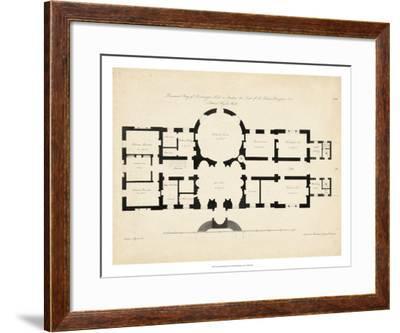 Antique Building Plan I--Framed Giclee Print